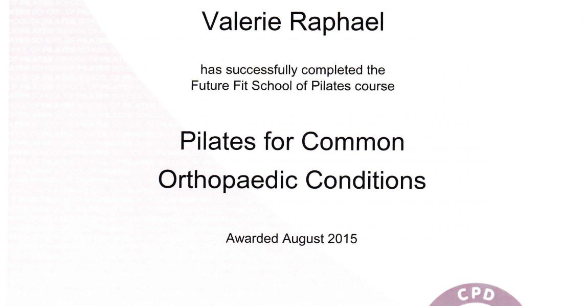 Pilates for commun orthopedic conditions
