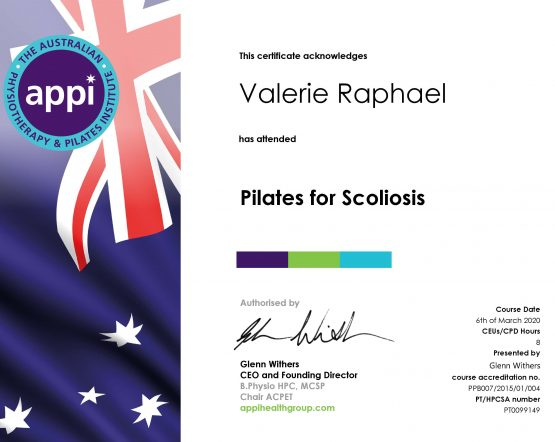 Scoliosis certification with APPI